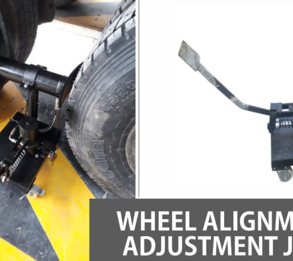 Thrust and Scrub Angle Adjustment Jack for Truck Wheel Alignment